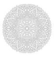 art for coloring book with round abstract pattern vector image vector image
