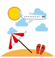 beach landscape vacations icons vector image vector image