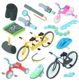 Biking icons set cartoon style vector image vector image