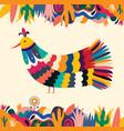 bird mexican vector image vector image