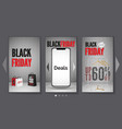 black friday smartphone sale realistic web vector image