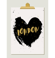 Black Heart London Poster vector image vector image