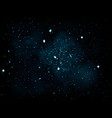 blue glitter particles background for vector image