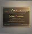 certificate template or diploma design in luxury vector image vector image