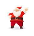 christmas funny cartoon santa vector image vector image