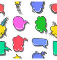collection text balloon style doodles vector image vector image