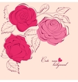 cute roses background vector image vector image