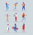 diverse male female - occupations ages and gender vector image vector image