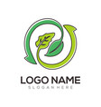 environment logo and icon design vector image