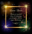 festive golden frame vector image vector image