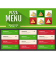 Flat style fast food pizza menu design vector image vector image