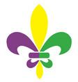 fleur de lis mardi gras vector image vector image