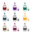 gin icon in black style isolated on white vector image vector image
