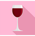 glass of red wine icon flat style vector image vector image