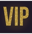 Golden symbol of exclusivity the label VIP with vector image vector image