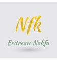 Golden Symbol of the Eritrean Nakfa vector image vector image