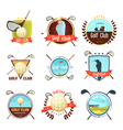 Golf Clubs Retro Style Labels Set vector image