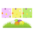 Grass easter eggs and pattern vector image vector image