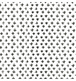 grunge black ink freehand cross seamless pattern vector image