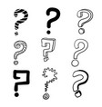 hand drawn question mark with doodle cartoon style vector image vector image