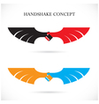 Handshake abstract design concept template vector image vector image