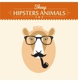 Happy New year card with hipster sheep on vector image