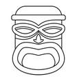 hawaii wood tiki idol icon outline style vector image vector image