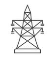 high-voltage power line linear icon vector image