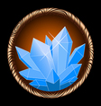 icon crystal vector image vector image