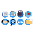 icons for website design accounting services vector image
