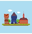 Image of a country town in a flat style Urban vector image