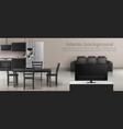 interior mockup studio apartment vector image