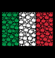 italian flag collage of thumb up items vector image