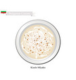 kiselo mlyako or bulgarian fermented milk with sou vector image vector image