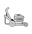 lawn mower grass cutter line art icon vector image vector image