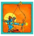 Lord Rama with bow arrow killimg Ravana vector image vector image