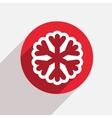Modern snowflake red circle icon
