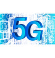 new standard in wireless technology 5g network vector image vector image