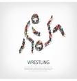 people sports wrestling vector image