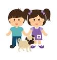 Pets love design vector image vector image