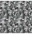 Pixel camo seamless pattern Grey urban camouflage vector image vector image