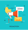 promotion flat concept vector image vector image