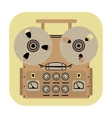 reel tape recorder icon on yellow background vector image