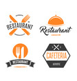 restaurant logos badges and labels design vector image