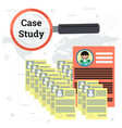 resume - case study concept vector image vector image