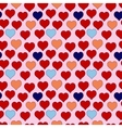 seamless pattern of red hearts valentines day on vector image vector image