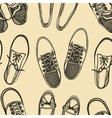 seamless pattern of shoes - sneakers vector image vector image