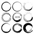 set grunge circles grunge round shapes vector image vector image