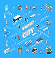 smart city isometric flowchart vector image vector image