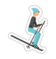 snow ski extreme sport vector image vector image